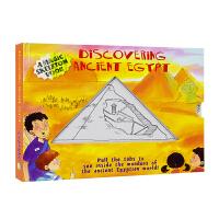 Discovering Ancient Egypt 古埃及 儿童百科科普抽拉机关变色书 英文原版图书