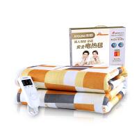 彩阳电热毯单人双人双控调温智能定时加厚安全防水电褥子
