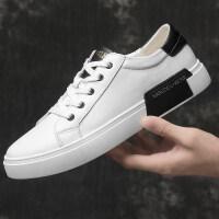 夏季男生韩版板鞋潮鞋百搭街舞休闲鞋透气皮鞋系带黑白配运动男鞋