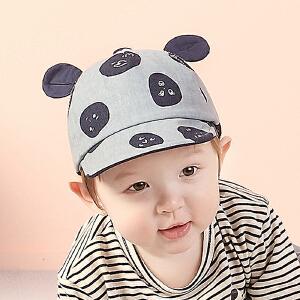 Yinbeler婴儿帽子秋宝宝帽子男童女童鸭舌帽6-12--24个月宝宝棒球帽春秋可爱熊猫