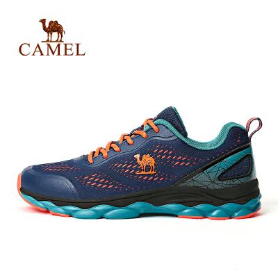 骆驼运动鞋 秋季男女超轻跑步鞋透气网面减震跑鞋