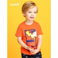 安奈儿童装男童夏季新款圆领短袖T恤TB821003
