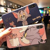浮雕猫和老鼠苹果X手机壳iphoneXs MAX硅胶套7plus软壳6s/8情侣女