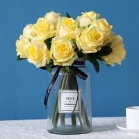 甜梦莱手感保湿7头把束仿真玫瑰花假花绢花艺装饰餐桌婚庆新娘手捧花束