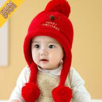 宝宝帽子 秋冬季6-12个月男女孩公主韩版儿童毛线帽1-2岁婴儿帽子