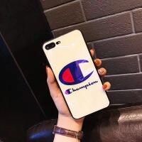 潮牌iPhone7手机壳苹果X蓝光玻璃壳8plus咦哟6sp防摔厂家批发 i6-4.7 白底