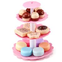 儿童过家家厨房仿真玩具套装做饭女孩宝宝公主甜品切生日蛋糕塔