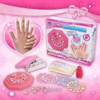 乐吉儿儿童美甲套装指甲贴 益智手工diy玩具3-6周岁女孩生日礼物