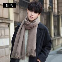 围巾男冬季长款简约英伦潮流年轻人男士围巾冬天保暖