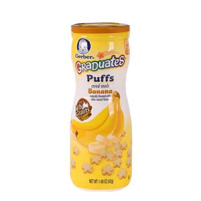美国Gerber嘉宝 香蕉星星泡芙 42g 婴幼儿辅食 1罐装