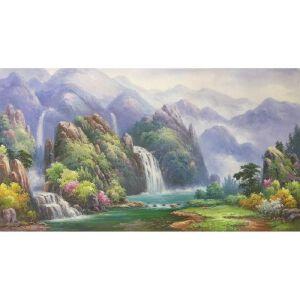 朝鲜油画 一级画家 申元浩《风光无限》【大千艺术品】