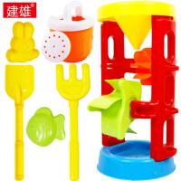 沙漏加厚戏水儿童洗澡玩具沙滩套装铲子耙子宝宝玩沙玩水工具