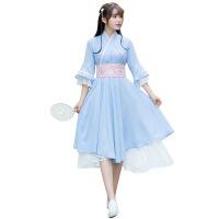 秋季汉服女中国风连衣裙古风女装学生古装改良日常装汉元素演出服