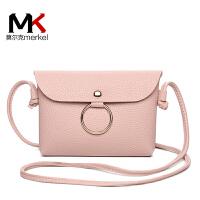 莫尔克(MERKEL)新款时尚圆环单肩女士小包包迷你斜跨手机包小零钱包包