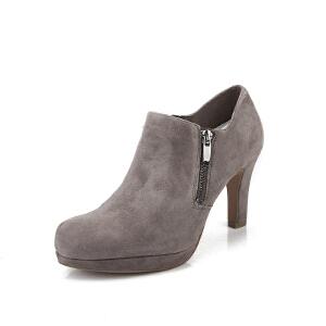 Clarks/其乐女鞋2017秋冬新款时尚高跟单鞋Amos Kendra专柜正品直邮