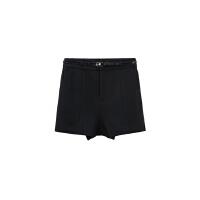 【狂欢返场,每满200减100再享买4免1!】美特斯邦威冬装新款女空气层送腰带短裤249777