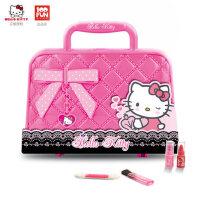凯蒂猫化妆盒女孩口红女童宝宝玩具儿童化妆品套装无毒公主彩妆盒