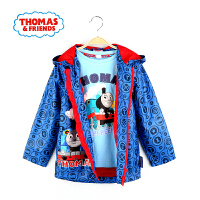 【满200减100】托马斯童装男童秋装外套卡通满印连帽上衣中大童防风外套托马斯和朋友