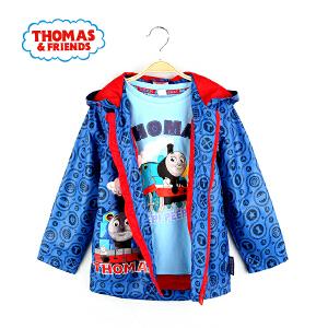 【满200减110】托马斯童装男童秋装外套卡通满印连帽上衣中大童防风外套托马斯和朋友