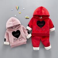 儿童宝宝冬装金丝绒卫衣套装男童两件套女童装