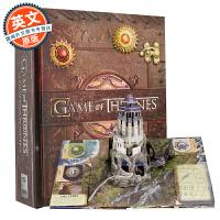 冰与火之歌 精装立体书【现货包邮】英文原版 Game of Thrones: A Pop-Up Guide to Westeros 权利的游戏 精美艺术大图册