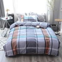 全棉单人床单床品纯棉被套学生宿舍床上用品三件套1.2米床 单人床三件套