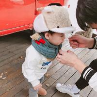 小童帽子男宝宝羊羔毛鸭舌帽护耳帽保暖