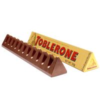 Toblerone瑞士三角 亿滋进口 牛奶巧克力含蜂蜜及巴旦木糖50g (瑞士进口) 休闲零食