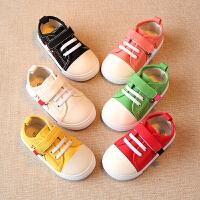 春秋婴儿幼儿儿童帆布鞋板鞋鞋子女宝宝单鞋