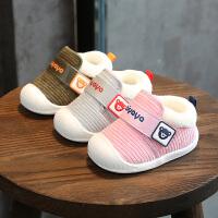 冬学步鞋0-1岁男女宝宝棉鞋6-12个月婴儿保暖鞋棉鞋