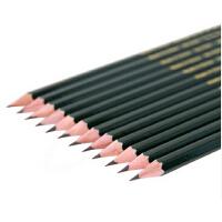 铅笔儿童文具得力2H 2B HB 卡通素描美术绘画铅笔