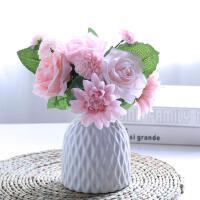 简约现代客厅家居摆件白色麻绳日式陶瓷文艺花瓶插花艺
