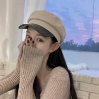 №【2019新款】冬天带的 帽子女冬新款甜美可爱鸭舌帽时尚休闲百搭海军帽潮 M(56-58cm)