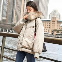 欧洲站羽绒服女短款加厚时尚大毛领欧货潮2018新款冬款mschf外套