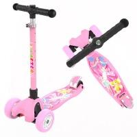 3-6-14岁小孩三四轮折叠闪光儿童滑板车单脚踏板车滑滑车溜溜车