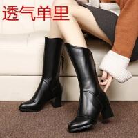 2019秋冬季新款粗跟短靴女靴雪地靴加绒中筒靴子中跟高跟鞋女鞋子