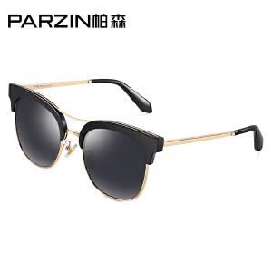 帕森偏光太阳镜男女 时尚个型半框潮墨镜时尚驾驶开车镜9888