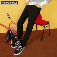 【每满100减50】美特斯邦威休闲裤子男冬装新款都市韩版舒适百搭弹力小脚裤