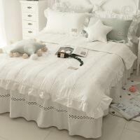 【人气】白色ins夏凉被四件套全棉纯棉床单被套公主风床裙款夏季4床上用品