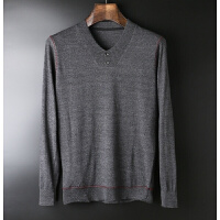 领尚男装将别致进行到底秋冬男士时尚保暖V领貂绒毛衣针织打底衫