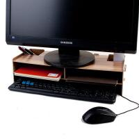 门扉 置物架 整理收纳液晶显示器木质增高架子电脑架键盘架办公用品桌面收纳架收纳盒家居日用