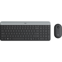 【支持当当礼卡】罗技(Logitech)MK470 键鼠套装 无线键鼠套装 超薄 全尺寸 星空灰 带无线2.4G接收器
