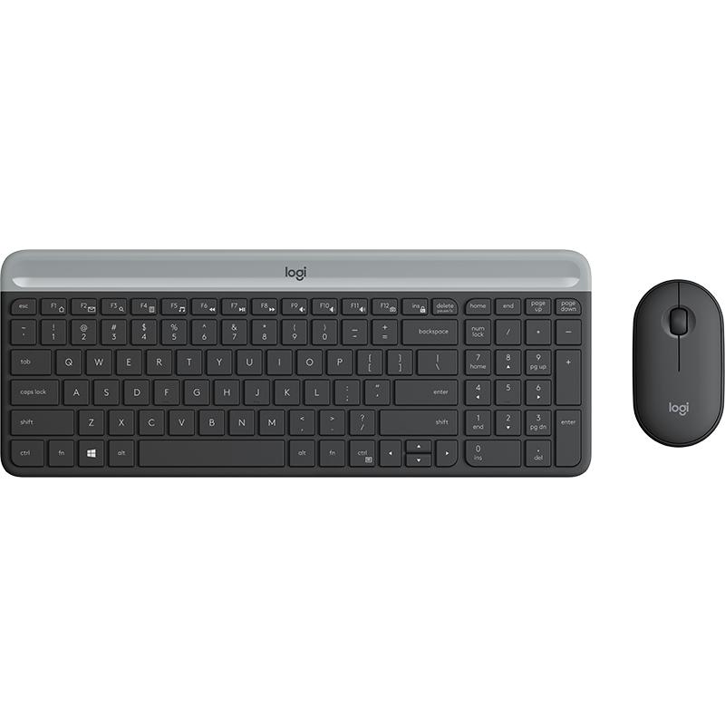 罗技(Logitech)MK520 无线键盘鼠标套装 USB多媒体防溅水电脑笔记本键鼠套装