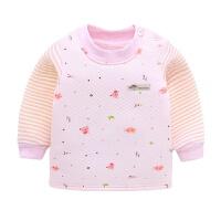 宝宝保暖单件秋冬款秋衣婴儿上衣儿童夹棉加厚纯棉内衣新生儿衣服