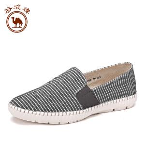 骆驼牌男鞋  夏季新品舒适耐磨低帮鞋套脚休闲款男鞋子潮