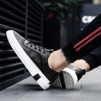 春夏季小白鞋男鞋子潮流韩版百搭青少年透气时尚板鞋男士休闲皮鞋