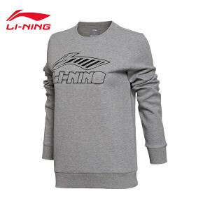李宁卫衣女士运动生活系列套头衫长袖保暖圆领运动服AWDM302