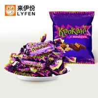 【2件8折3件7折】�硪练�KDV紫皮糖500g 俄�_斯�M口紫皮糖巧克力糖果休�e零食年�