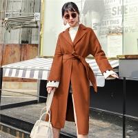 双面呢大衣女2018新款冬装中长款宽松韩版森系过膝秋羊毛呢子外套