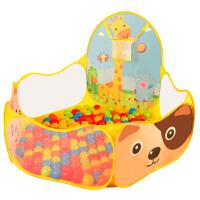 婴儿海洋球池卡通投篮球池帐篷游戏池围栏宝宝彩色波波球儿童玩具